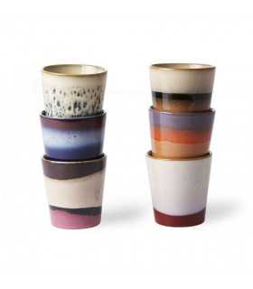 Ceramic 70's mugs set of 6...