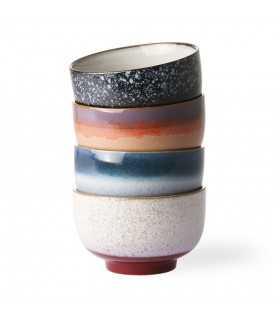 Ceramic 70's set of 4 bowls